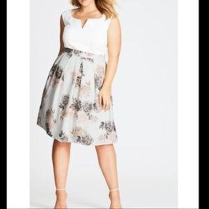 Floral whimsy skirt WITH POCKETS!!